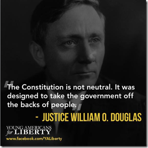 JUSTICE WILLIAM O DOUGLAS - THE CONSTITUTION IS NOT NEUTRAL