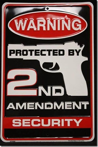 --  warning protected by 2nd Amendment security